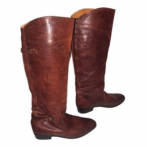Frye Dorado Riding Boots Tall Brown Leather 11M